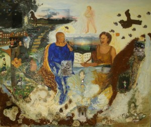 Kauai- Gemälde, Acryl und verschiedene Materialien auf Leinwand, 130x110, April 2011