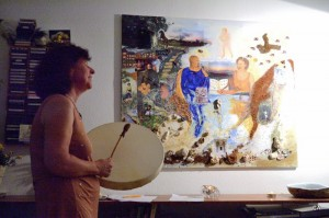 ALIBRA-Performance: das 'Kauai- Gemälde' singend