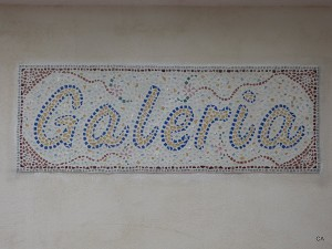 Galeria-Mosaic at the entrance of my Garage-Gallery