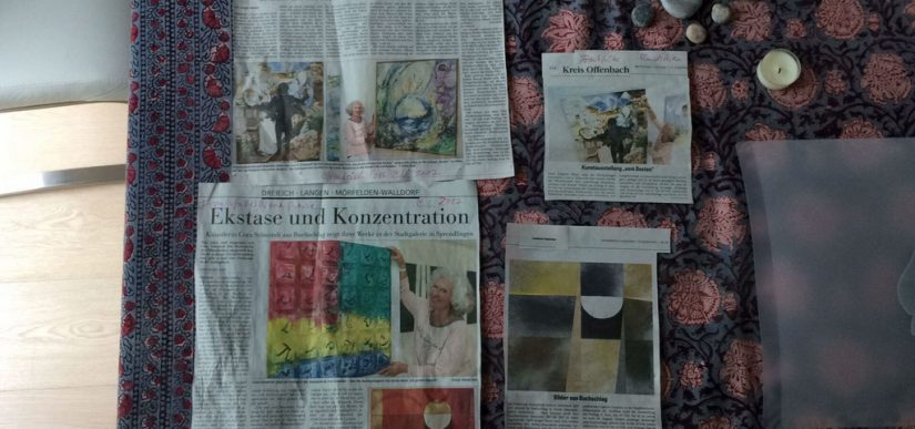 Press-releases before and during my actuall Art-Exhibition in the municipal Galerie in Dreieich-Sprendlingen
